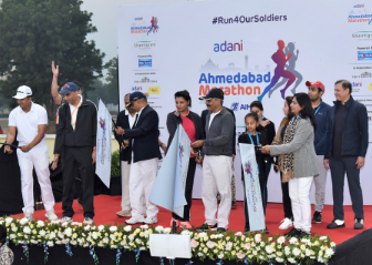 Adani Ahmedabad Marathon 2019 - 10 Km Run Flag Off