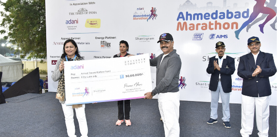 Adani Ahmedabad Marathon 2019 - 50 Lacs Donation to Armed Forces